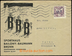 52431 - 1939 commercial letter to Jihlava franked with. forerunner s