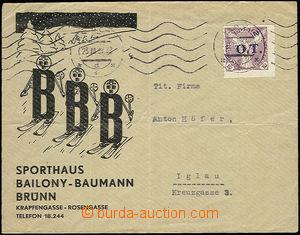 52431 - 1939 firemní dopis do Jihlavy vyfr. předběžnou zn. Pof.OT1 1