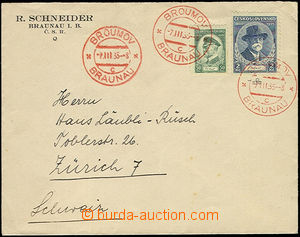 52432 - 1935 red special postmark Broumov 7.III.35 on/for commercial