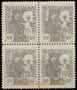 52441 - 1920 Pof.163 as blk-of-4 with general machine offset