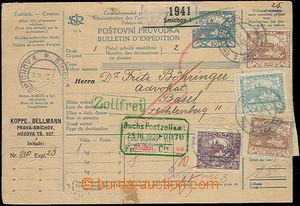 52442 - 1920 postalstationary - parcel card13 complete international