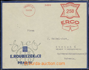 52451 - 1931 envelope with meter cancell ERCO Prague 21, 23.10.31 on