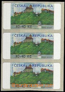 52458 - 2000 Pof.AT1 Veveří 0,40Kč s *, ve 3-pásce