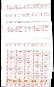 53489 - 1980 CZECHOSLOVAKIA 1945-92  comp. 12 pcs of sheets (50 pcs