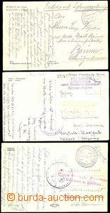 53530 - 1942 3x postcard sent as FP by German Service Post Tábor, Př