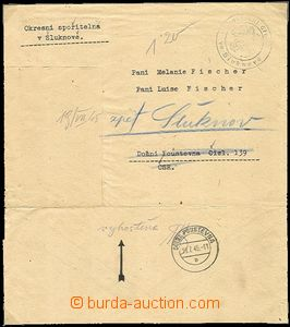 53537 - 1945 EXPULSION OF GERMANS  letter District bank franked cash