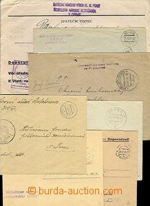 53569 - 1945-53 14ks dopisů osvobozených od poštovného, různí