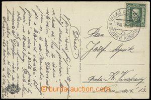 53828 - 1929 prošlá pohlednice s DR VELKÁ KOMŇATA 19.VII.29, Vot