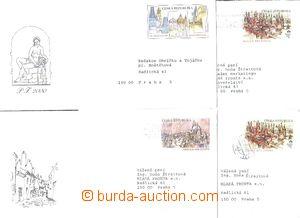 53850 - 1997-99 CSO3-5, 4 pcs of official. envelopes Us post (CSO3 2