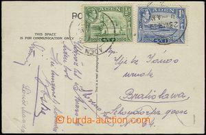 54052 - 1939 pohlednice zaslaná do Bratislavy, vyfr. zn. Mi.16 + 18,