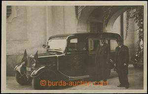 54057 - 1937 Pohřební vůz Pohřebního ústavu hl.m.Prahy s posá