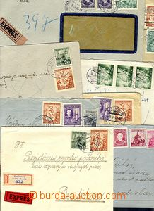 54114 - 1942-45 comp. 8 pcs of Reg or Reg and Express letters, vario