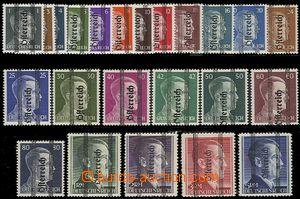 54192 - 1945 Mi.674-92, 693/IB, 694/IA, 695/IIA, 696/IIA přetiskové,