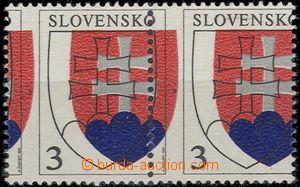 54199 - 1993 Zsf.2 State Coat of Arms  , horizontal pair with big sh