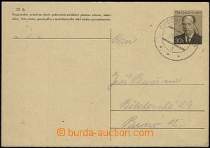 54257 - 1953? PC CDV111 with railway pmk č.508a CHORNICE - BRNO/ 29