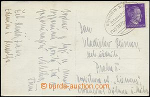 54266 - 1944 Ppc of Železná Ruda   with postmark German train post