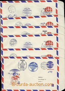 54273 - 1978 COB55, 56  sestava 6ks příležitostných leteckých C