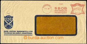 54279 - 1939 commercial window envelope with Czech forerunner meter
