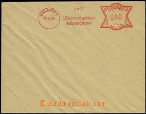54280 - 1929 bianco envelope with meter stmp BOHUMÍN 1/ 26.9.29/ Mi