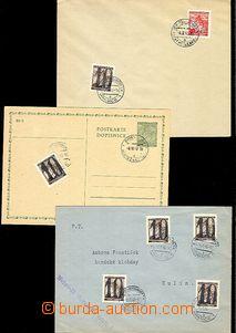 54284 - 1940 3x mache celistvostí s hranickým doplatním provizori