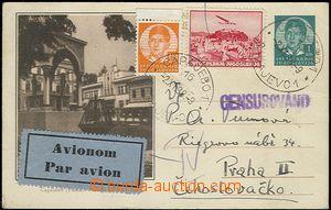 54319 - 1938 dopisnice Mi.P83d zaslaná letecky s dofr. do ČSR, zn.