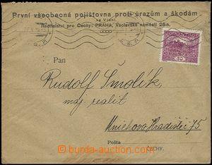 54321 - 1920 firemní obálka vyfr. zn. Pof.13B s perfinem A.G./1831