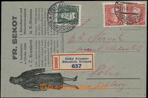 54332 - 1931 advertising commercial PC FR. Sekot, sent as Registered