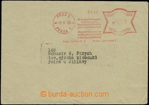54335 - 1945 letter as printing product with neupraveným (!!) Bohem