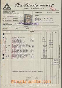 54336 - 1942 bill f. Rico (works) Inc. Prague, provided with revenue