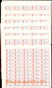 54407 - 1980? CZECHOSLOVAKIA 1945-92  selection of whole 50-stamps c
