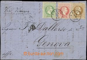 54415 - 1872 LEVANT  whole front side of letter addressed to Genoa w