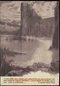 54454 - 1930? BURIAN Zdeněk : Stříbrné lake, monochrome, dark violet