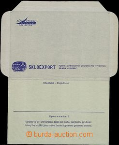 54507 - 1960 Aerogram without printed stamps with additional-printin
