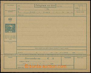 54508 - 1919 CTÚ1A/Pa Hradčany, telegram s neoddělenou stvrzenkou