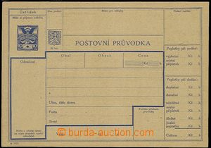 54510 - 1921 CPP7A Pigeon-issue, dispatch-note in/at Czech version,