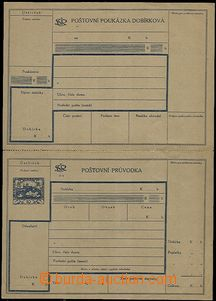 54511 - 1920 CDP3A Hradčany, C.O.D. dispatch-note undetached, in pe