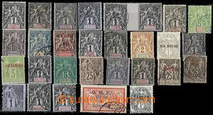 54514 - 1905 FRENCH COLONIES  selection of 29 pcs of various stamp.