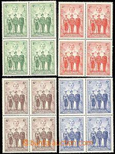 54538 - 1940 Mi.156-59 kompl. série ve 4-blocích, svěží, kat. 1