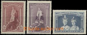 54539 - 1938 Mi.150Dx-152Dx postage stmp, 5Sh, 10Sh and 1Lb, 3 highe