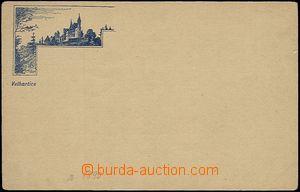 54553 - 1890 Velhartice - forerunner postcard; Un, wrinkled corners,