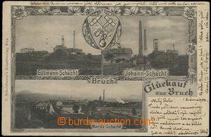 54568 - 1900 LOM - 3okénková, uhelné doly Gutmann-Schacht, Johann