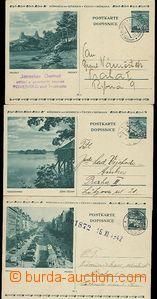 54572 - 1940-42 CDV6/5, 8, 9,  3 pcs of picture, Prague - Wenceslas