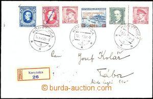 54594 - 1939 R dopis zaslaný do ČaM, vyfr. smíšenou frankaturou
