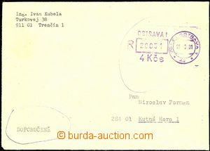 54612 - 1981 R dopis vyplacený OVS pro R zásilky, Ostrava 1/ 11.8.