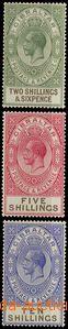 54622 - 1925 Mi.88-90 Jiří V., hodnoty 2,6Sh, 5Sh a 10Sh, neúpln�
