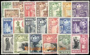 54648 - 1938-43 Mi.176-90, 191-96 výplatní, různé motivy + Jiří VI.,