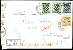 54680 - 1941 Reg letter to Bohemia-Moravia, with Mi.1x 1, 2x 11, 1x