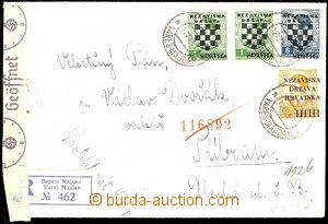 54680 - 1941 R dopis do ČaM, vyfr. zn. Mi.1x 1, 2x 11, 1x 18 (přet