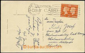 54711 - 1940 pohlednice zaslaná do tábora čsl. armády v Cholmond