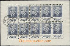 54715 - 1951 Pof.611a, Jirásek, special postmark Hronov/ Sté anniv